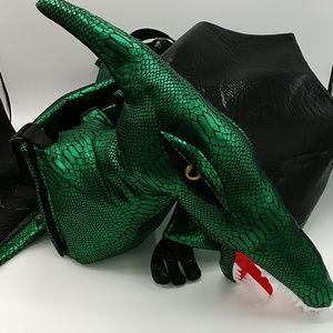 Spooked Metallic Green Dino/Dragon Costume